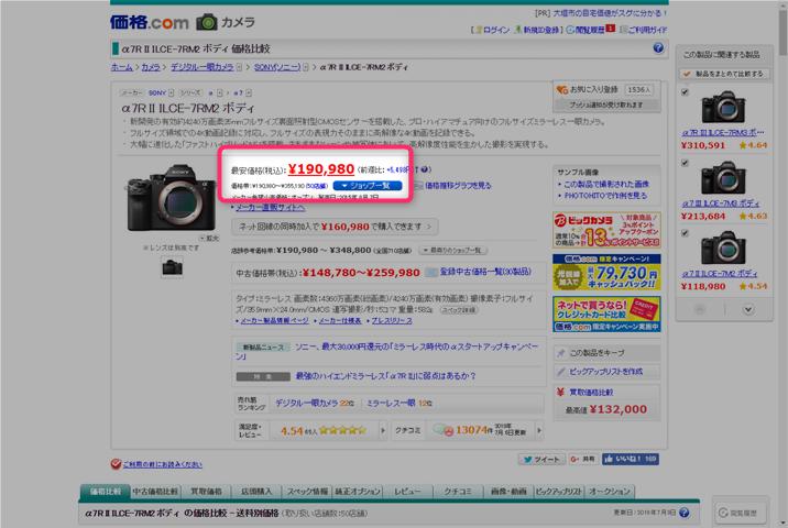 価格.comの最安値
