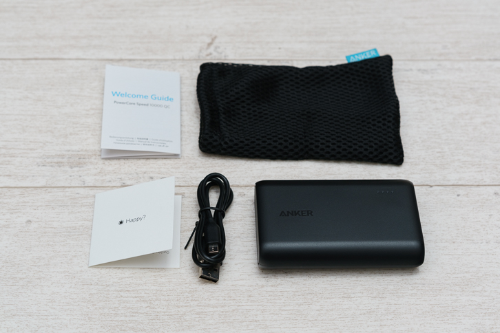 Anker PowerCore Speed 10000 QC付属品