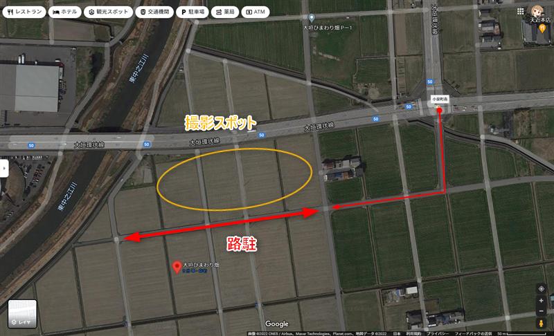 コスモス畑(平町)アクセスと駐車場
