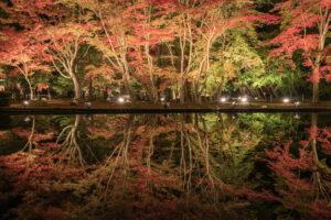 曽木公園の逆さ紅葉