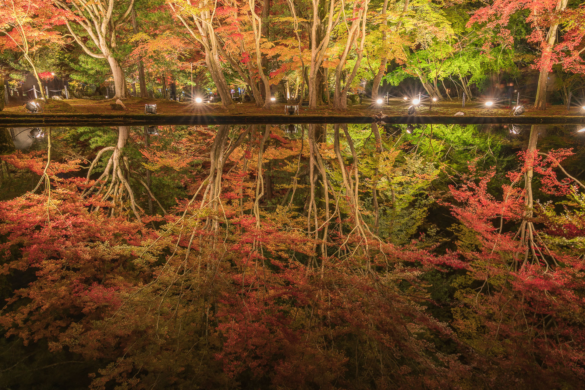 曽木公園(逆さ紅葉)3