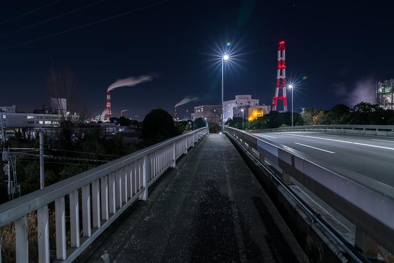 日永跨線橋(工場夜景)注意