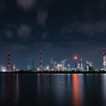 磯津・鈴鹿川河口(工場夜景)4