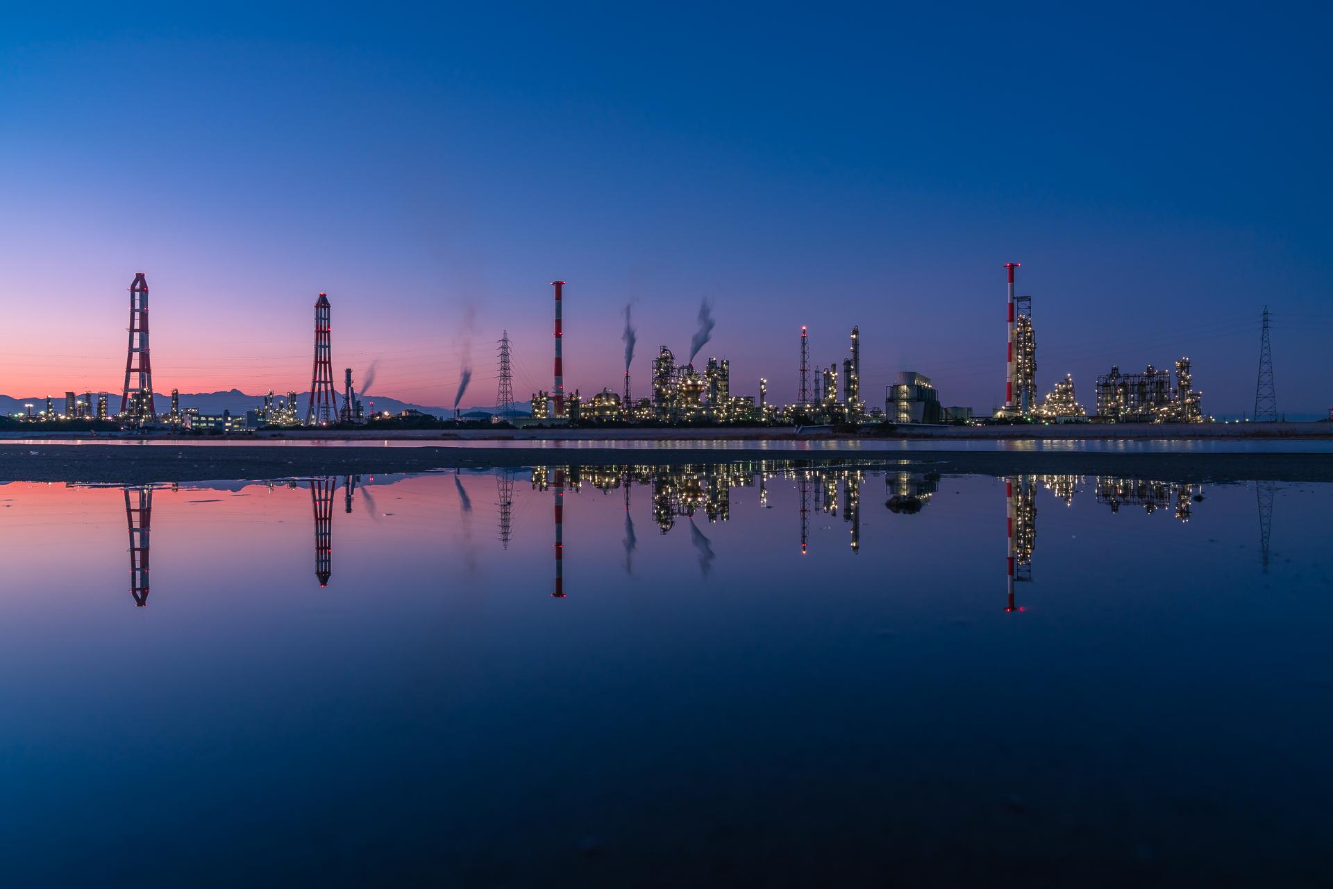 工場夜景(磯津・鈴鹿川河口エリア)2