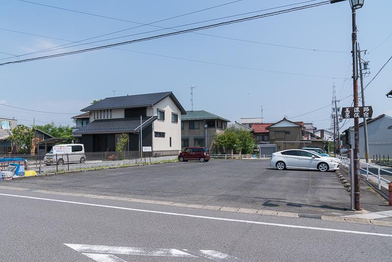 墨俣犀川堤のあじさい街道駐車場