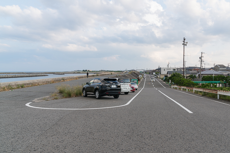 磯津・鈴鹿川河口(工場夜景)駐車スペース