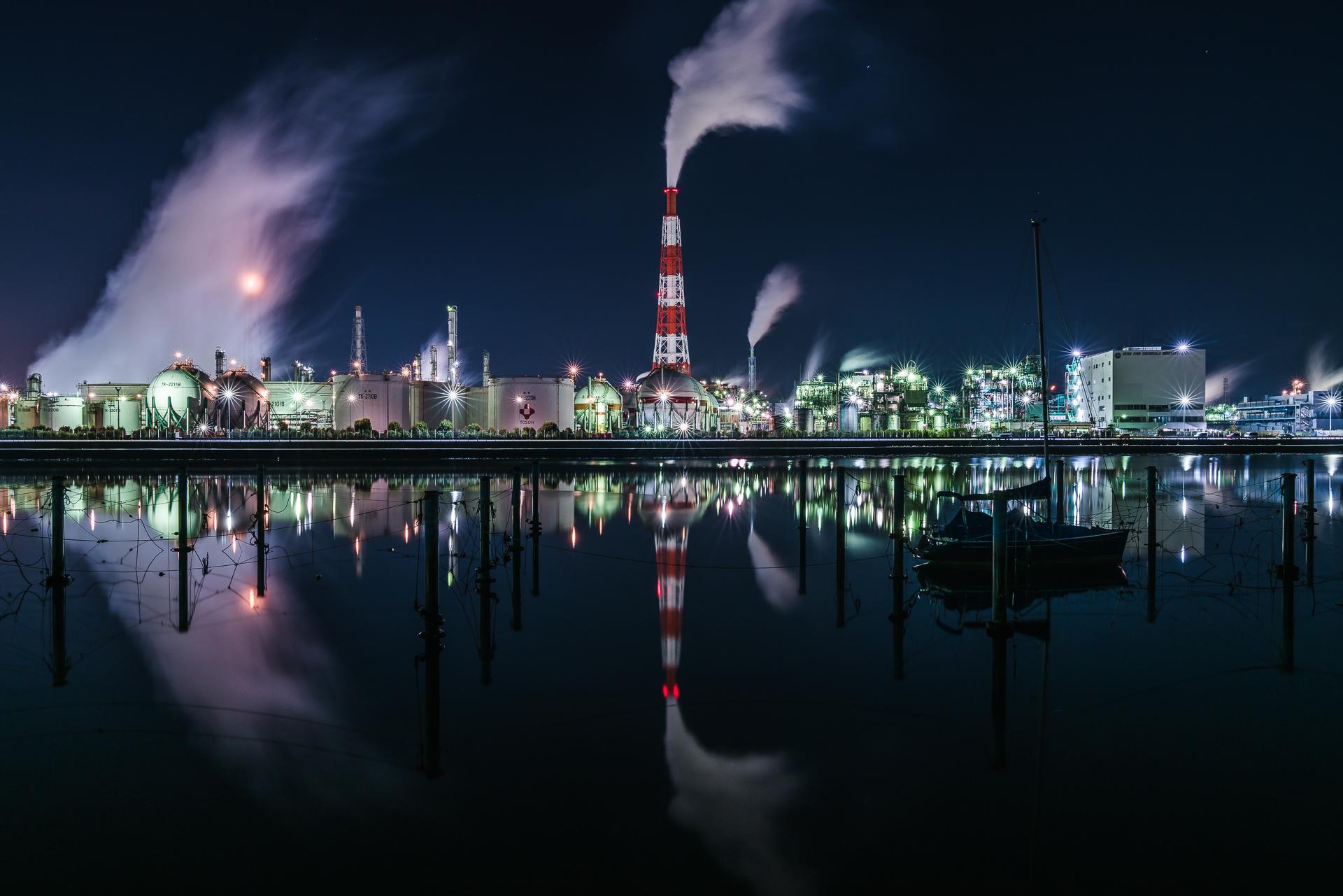 三重県「四日市工場夜景(四日市ドーム)」の行き方と撮影スポット
