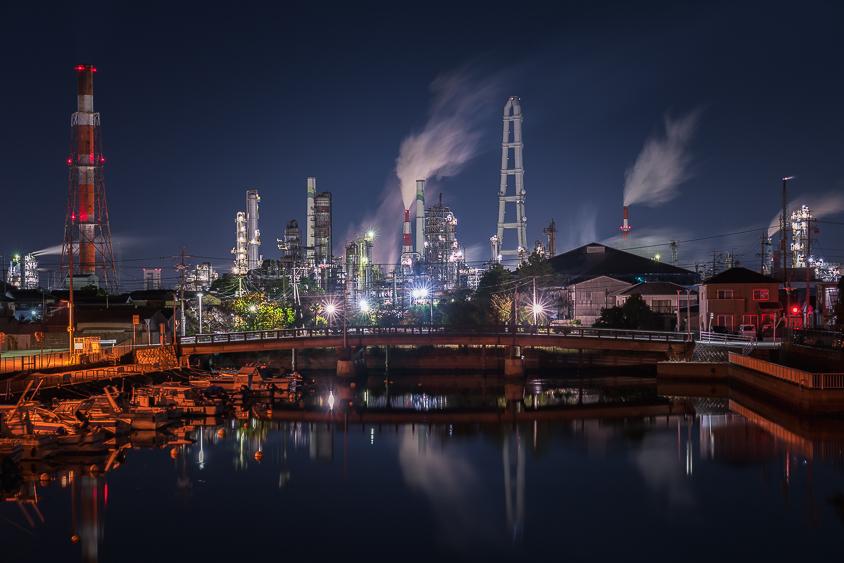 相生橋(工場夜景)