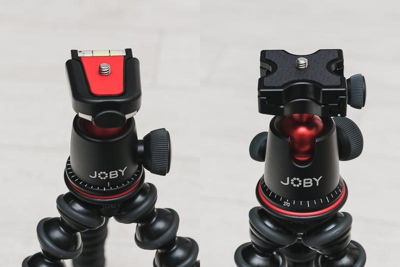 JOBY「ゴリラポッド」3Kキットと5Kキットの比較(雲台)