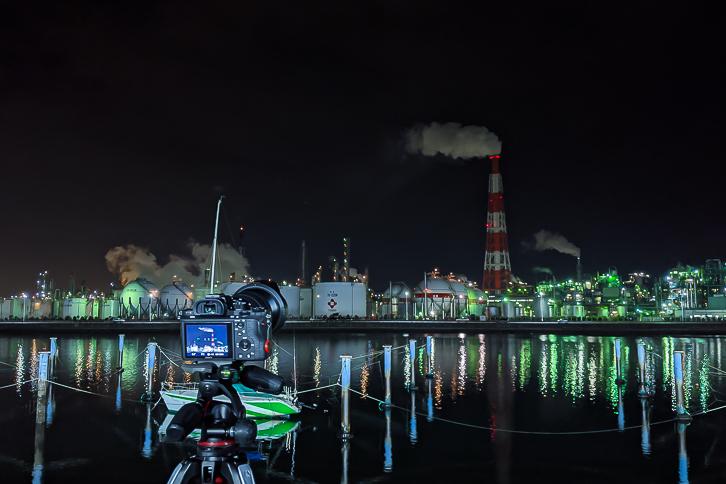 工場夜景ISO感度