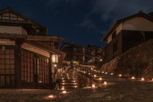 馬籠宿(氷雪の灯祭り)
