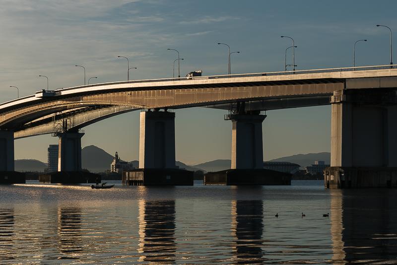 琵琶湖大橋 注意