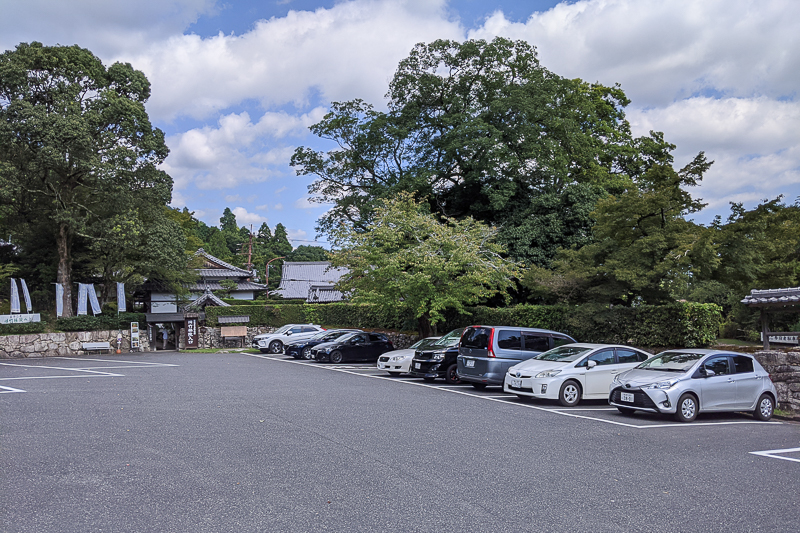 旧竹林院駐車場