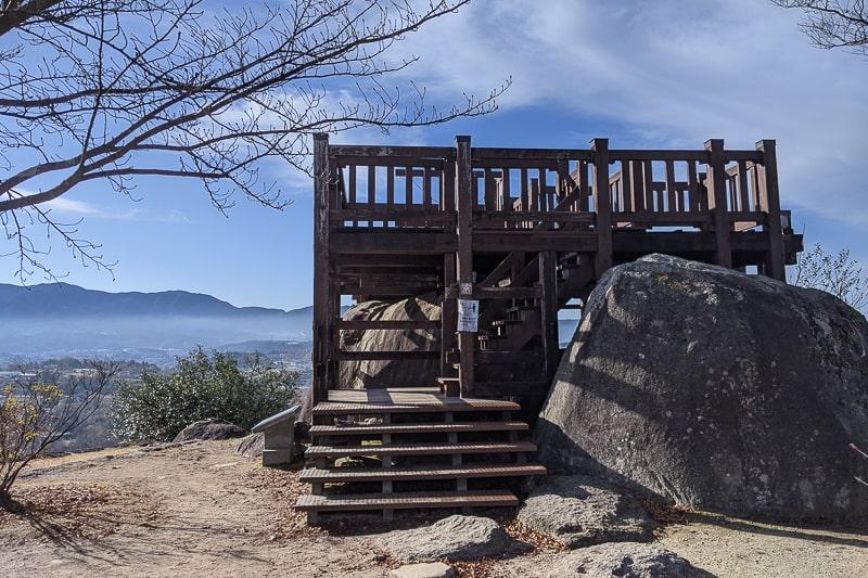 苗木城跡 展望台