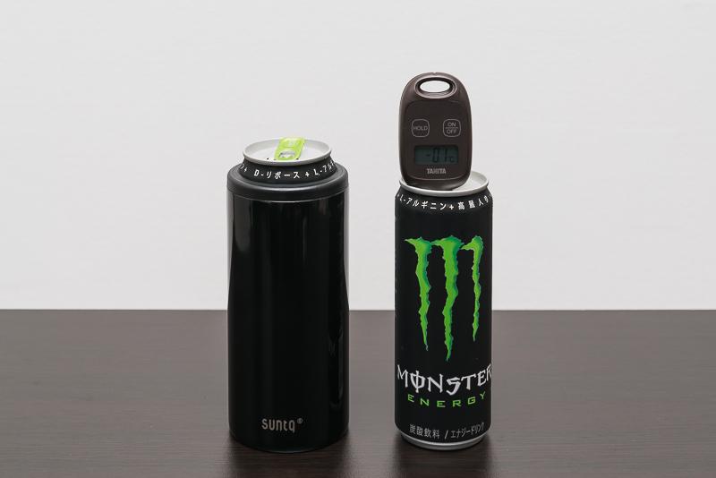SUNTQの保冷缶ホルダーの保冷効果