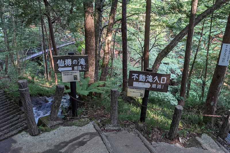 不動の滝 順路3